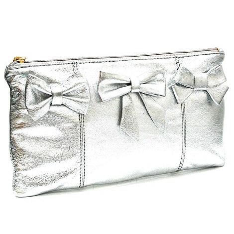 Marta Jonsson - Silver leather clutch bag