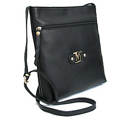Marta Jonsson - Black leather cross body bag