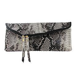 Marta Jonsson - Multicoloured snakeskin clutch bag