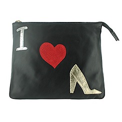 Marta Jonsson - Black clutch bag with pictures