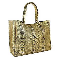 Marta Jonsson - Gold crocodile shoulder bag