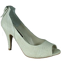 Marta Jonsson - Beige court shoe with peep toe