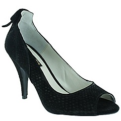 Marta Jonsson - Black court shoe with peep toe
