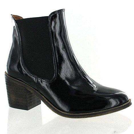 Marta Jonsson - Black Patent Leather Ankle Boot