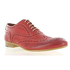 Marta Jonsson - Red leather classic brogue shoe