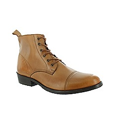 Marta Jonsson - Tan men's ankle boot with laces