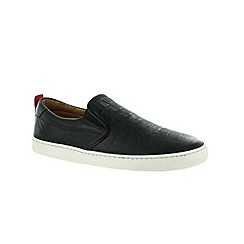 Marta Jonsson - Black men's slip on shoe with elastics