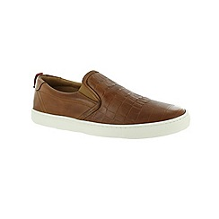 Marta Jonsson - Tan men's slip on shoe with elastics