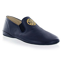 Marta Jonsson - Navy leather slipper