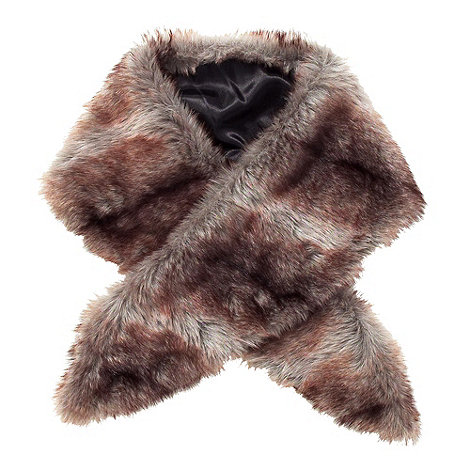 Joe Browns - Chocolate fabulous faux furry collar