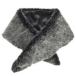 Joe Browns - Black fabulous faux furry collar