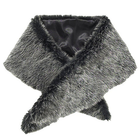 Joe Browns - Black fabulous faux furry collar