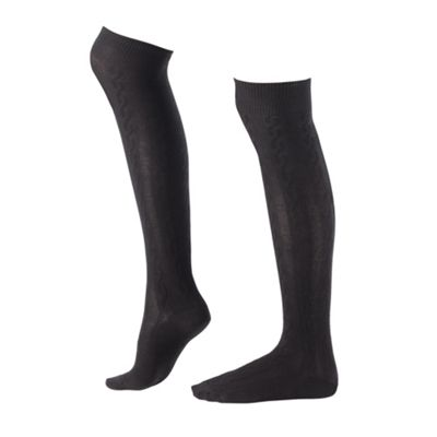 Black Cool & Cosy Long Socks