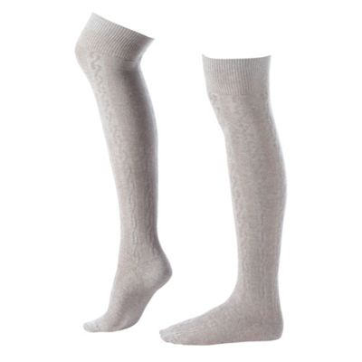 Light Grey Cool & Cosy Long Socks