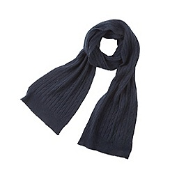 Joe Browns - Navy cashmere blend cable knit scarf