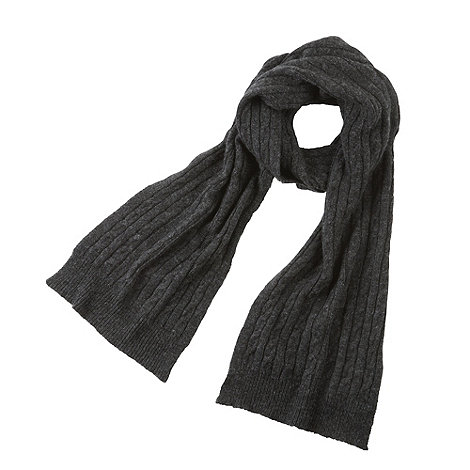 Joe Browns - Dark grey cashmere blend cable knit scarf