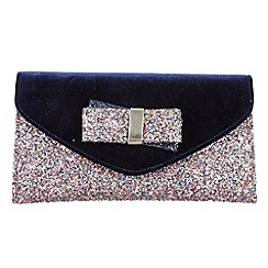 Joe Browns - Blue gorgeous glitter clutch bag