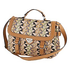 Joe Browns - Multi coloured beautiful raffia satchel bag