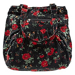 Joe Browns - Multi coloured vintage floral velvet bag