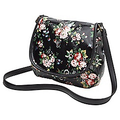 Joe Browns - Multi coloured floral oil canvas bag