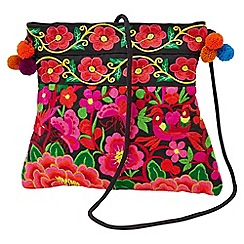 Joe Browns - Multi coloured remarkable pom pom x body bag
