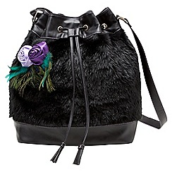Joe Browns - Black faux fur bag