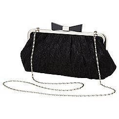 Joe Browns - Black pretty lace clutch bag