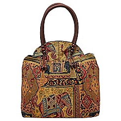 Joe Browns - Multi coloured funky tapestry elephant bag