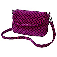 Joe Browns - Pink spotty velvet handbag