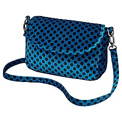 Joe Browns - Turquoise spotty velvet handbag