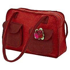 Joe Browns - Red wool bowling bag