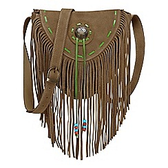 Joe Browns - Tan funky suede tassel bag