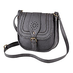 Joe Browns - Grey retro whip stitch cross body bag