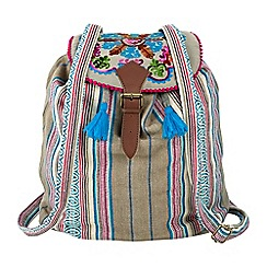 Joe Browns - Multi coloured ethnic boho rucksack