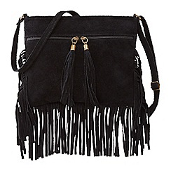 Joe Browns - Black fantastic suede tassel zip bag