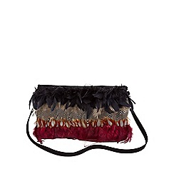 Joe Browns - Multi coloured fabulous feather bag