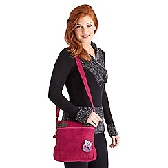 Joe Browns - Pink so cute owl messenger bag