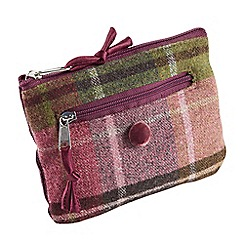 Joe Browns - Plum fabulous tweed check purse