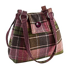 Joe Browns - Plum vintage tweed check bag