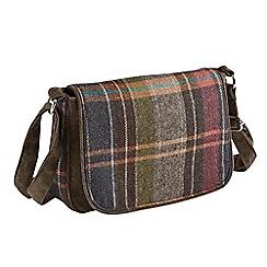 Joe Browns - Multi coloured must have tweed flap over bag