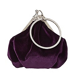 Joe Browns - Purple velvet art deco bag