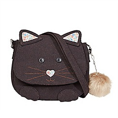 Joe Browns - Brown cute kitten pom pom bag