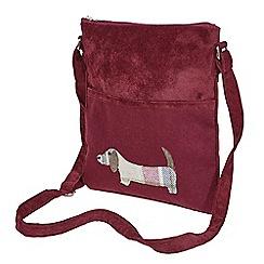 Joe Browns - Plum dachshund dog messenger bag