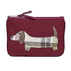 Joe Browns - Plum dachshund dog zip purse