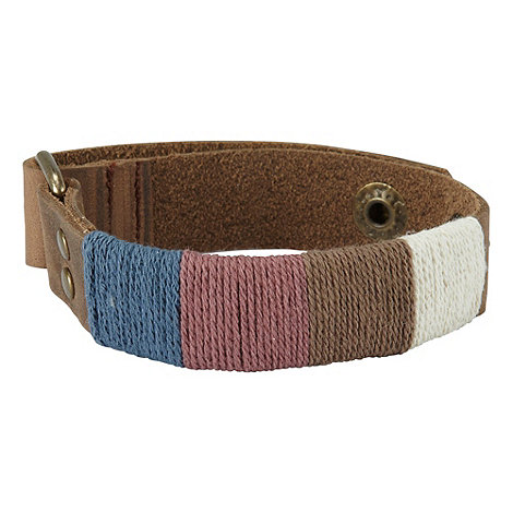 Joe Browns - Multi coloured laid back leather bracelet