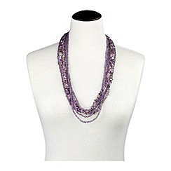 Joe Browns - Purple funky beaded necklace