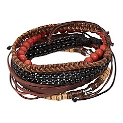 Joe Browns - Brown pack of surfer bracelets
