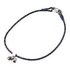Joe Browns - Blue leather bracelet/necklace