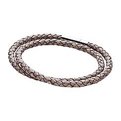 Joe Browns - Grey leather double wrap bracelet