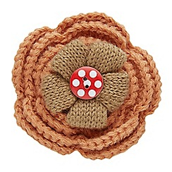 Joe Browns - Multi coloured crochet flower pin